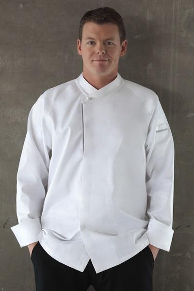 Men Women Single Breasted Long Sleeve Chef Jacket Coat Kitchen Cook Uniform