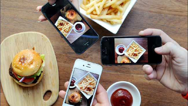 phones and food